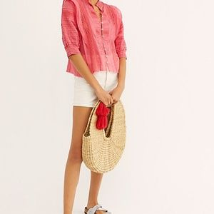 NEW flaw Free People FP One Roselind Top Crochet B